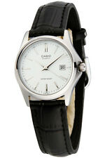Casio LTP1183E-7A Ladies Genuine Leather Casual Dress Watch Quartz - White Dial