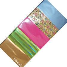 5 x Nail Art Foils - Pearl Blue, Floral, Neon Pink, Gold Metallic, Holographic