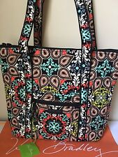 "NWT Vera Bradley "" Sierra"" Villager FULL FABRIC Tote Bag Shoulder Handbag RARE"