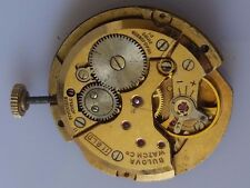 Bulova Vintage watch movement 17j swiss for repair f233