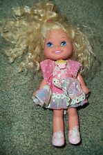 Mattel Cherry Merry Muffin Doll  Blonde Hair in Pink Dotted Dress Pink Shoes