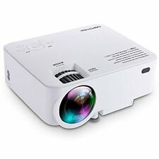 DBPOWER T20 1500 Lumens LCD Mini Projector, Multimedia Home Theater Video 1