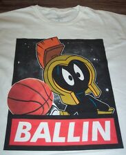 WB LOONEY TUNES MARVIN THE MARTIAN BASKETBALL SPACE JAM T-Shirt LARGE NEW