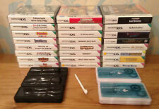 JOB LOT 24 Nintendo DS Games, 5 Travel Cases + 3 Spare Styluses