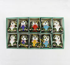 Wholesale10pcs Chinese Cloisonne /Enamel panda Christmas Ornaments Charms