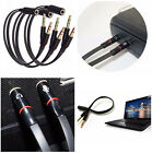 3pcs 3.5mm Y Splitter 2 Jack Male to 1 Female Headphone Mic Audio Adapter Cable