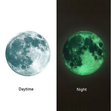 30cm Luminous Moon Glow in the Dark Wall Stickers Moonlight Decor Waterproof EW