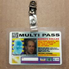 Fifth Element ID Badge-Multi Pass Korben Dallas costume prop Cosplay