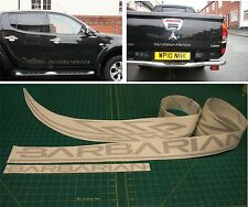 Mitsubishi L200 Barbarian Warrior tribal Replacement side rear decals stickers