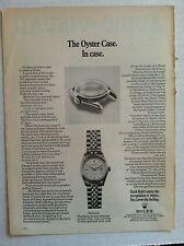 1960's ROLEX OYSTER CASE DATEJUST ORIGINAL ADVERTISING WATCH AD