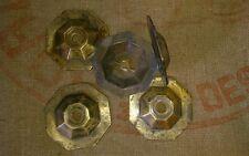 5 rosaces en bronze ou laiton ciselé lustre lampe bobèches  Diam : 8 cm bobèches