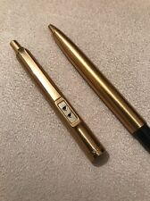 VINTAGE PAPER MATE GOLD PLATED GT BALLPOINT PEN-USA-BLUE INK-VGC-EXWO