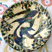 PUIGDEMONT ARTISANAL STUDIO POTTERY LARGE FISH BOWL - MADE IN CATALONIA SPAIN