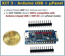 KIT3 - µPanel Controllo Remoto Arduino con APP Android iOS ESP8266 WiFi miuPanel