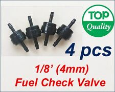 "4xPCS 1/8"" (4mm) Inline Check Valve Fuel Gas Air Ink Liquid One Way Non Return"