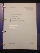 BRITISH ARMY SNIPER TRAINING & L96A1 PAMPHLET MANUAL SAS PARAS AIRSOFT