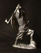 Viking with Broad Axe Tin Toy soldier 54 mm., figurine, metal sculpture.