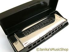 Professional swan blues power harmonica+case harp A tuned 10 hole 3 octaves
