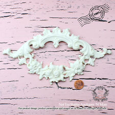 "Shabby Chic Furniture Appliques ""Floral Cartouche (Large)"""