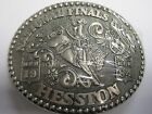 National Finals Rodeo Hesston 1984 NFR Cowboy Adult Buckle, Orig. Pkg., Bronc