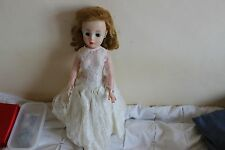 VINTAGE COLLECTABLE CHILTERN TEENAGE DOLL, WEDDING DRESS, 1960s