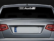 AUDI - REAR SCREEN - VINYL CAR DECAL STICKER ADHESIVE  - A3 A4 TT  - 300mm long