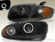 03 04 05 CHEVY CAVALIER SEDAN & COUPE HALO ANGEL EYE PROJECTOR HEAD LIGHTS BLACK