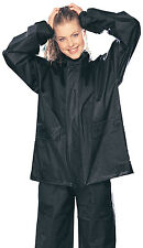 Tourmaster Black Adult XL PVC Two-Piece Motorcycle Rain Jacket & Pants