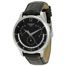 Tissot Tradition Black Dial Stainless Steel Mens Watch T0636371605700