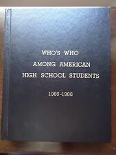 Who's Who among American High School Students, 1985-1986 Vol 3 (1986, Hardcover)