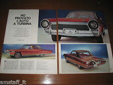 CHRYSLER TURBINE TURBINA=ANNO 1963=RITAGLIO=CLIPPING=POSTER=FOTO=PHOTO=