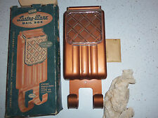 RARE Lustro Ware Copper color plastic mailbox complete box screws Lustroware