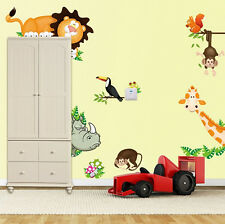 NEW Animals Monkey Removable Wall Sticker Decal For Kids Baby Nursery Room Decor