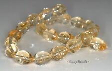 13X10MM  CITRINE QUARTZ GEMSTONE TEARDROP LOOSE BEADS 7.5""