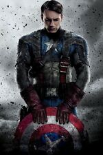 Chris Evans Captain America-The First Avenger Movie Poster 30x45cm Fabric Print