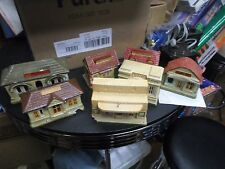 Lot of 7 made in Japan Cermaic Train station, Bank, and more