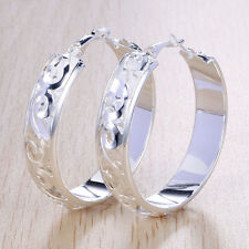 Fashion Women 925 Sterling Silver Wedding Stud Dangle Hoop Earrings Jewelry