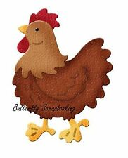 CHICKEN Small Die Craft Steel Die Cutting Die Cottage Cutz CC-080 New