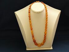 ANTIQUE NATURAL BALTIC AMBER BEADS NECKLACE REAL AMBER 29 g 老琥珀 SUPER RARE No.N
