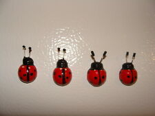 Lot of 4 Russian Hand Painted Lady Bug Souvenir Refrigerator Magnets