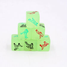 Glow in Dark Love Dice Toys Couple Lovers Games Aid Luminous Party Happy Toy