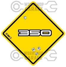 HOLDEN 350 WHITE TEXT - Bullet Hole Road Sign Sticker #10