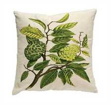 Square Pillow with Botanical Embroidery by Creative Co-Op