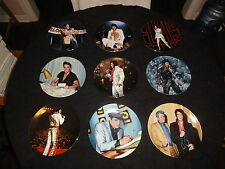 9 Elvis Presley plates by DELPHI -  with COAs & boxes