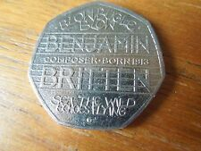 Benjamin Britten 50p Coin 2013 VERY RARE Collectors Item