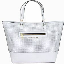 NEW $218 JUICY COUTURE Large Sierra White Leather Tote Shoulder Bag Purse NWT