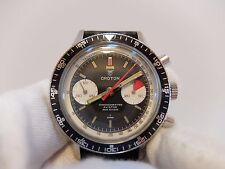 VINTAGE CROTON NIVADA CHRONOMASTER AVIATOR SEA DIVER CHRONOGRAPH WATCH SEE VIDEO