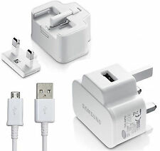 For Samsung Galaxy Tab 3 8.0 WiFi WHITE 2AMP Main Charger & Micro USB Cable Lead