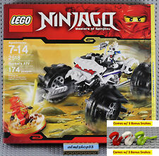 LEGO - Ninjago Nuckal's ATV 2518 NISB Kai Red Dragon Skeleton Minifigure 2504