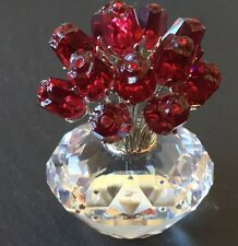 "Swarovski Crystal Rare Jubilee Edition ""The Vase Of Roses"" W/15 Red Roses 2002"